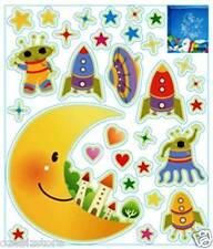 Space Ship Rocket Moon Alien UFO Fluorescent Glow In Dark Kids wall Stickers