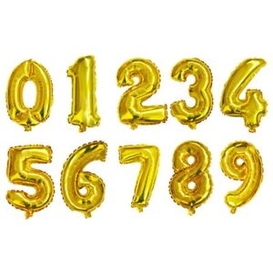 16/32 inch Number Balloon Blue Black Red Gold Silver Number Foil Balloons Baby