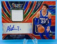 Matisse Thybulle 2019-20 Panini Select T-Mall RED WAVE PRIZM PATCH AUTO RC 76ers