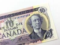 1971 Canada 10 Dollar Ten Dollar Uncirculated ETB Crow Bouey Banknote R720