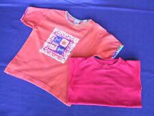 2 T-Shirts Gr. 98: orange mit Motiv (C&A) + einfarbig rot