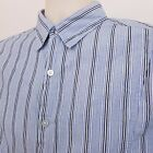 GUESS by Marciano Button Down Shirt Men's XL Extra Large Blue Striped Slim Fit