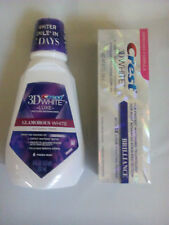 Crest3D White Brilliance Toothpaste 116g & White Whitening Mouthwash 237ml New