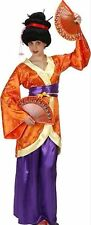 GEISHA Costume Japanese Kimono Dress Oriental Japan Asian Adult Women Ladies