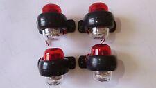 4 pcs 24V LED Red White Side Marker Lights Lamps Lorry Truck Trailer Caravan Van