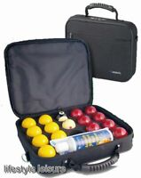 Super Aramith Pro Cup 2 inch UK Red and Yellow Set in Carry Case - Free Delivery