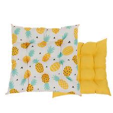 Set di 2 Cuscini per seduta ananas quadrato da giardino da pranzo cucina sedia divano PADS