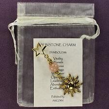 SUNSTONE CHARM Talisman Amulet Totem Wicca Pagan Magick Symbolism Star Sun