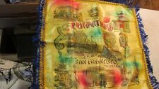 Vintage Souvenir Pillow Top Chinatown San Francisco