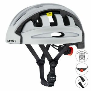 Foldable Riding Cycling Helmet w/ Rear Light Breathable Motorcycle Bicycle Urban