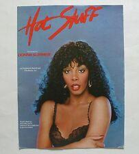 Donna Summer Sheet Music Hot Stuff (1979, 4 Pages)