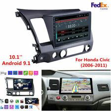 10.1' Android 9.1 Car Stereo Radio WiFi Bluetooth Gps Nav For Honda Civic 06-11