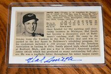 HAL SMITH SIGNED AUTOGRAPHED CARD SIZE CUT PICTURE BALTIMORE ORIOLES