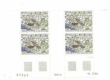 TIMBRES TAAF POSTE AERIENNE N° 96  ** BLOC DE 4 COINS DATE