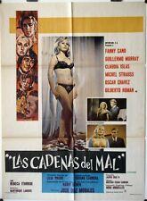 812 LAS CADENAS DEL MAL Mexican poster 1970 Jose Diaz Morales, sexy Fanny Cano