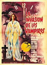 La Invasión de los vampiros (1963) )Horror movie poster print