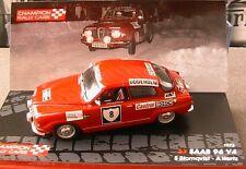 SAAB 96 V4 #8 RALLY SWEDEN 1972 BLOMQVIST HERTZ IXO 1/43 OSRAM CASTROL BOSCH