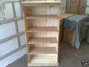PINE FURNITURE SOLID PINE HEIGHT 150 CM AYLESBURY BOOKCASE NO FLAT PACK 150CM
