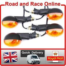 2 Pairs Of Enduro Style Motorcycle Indicators 12v Universal Fit With Amber Lens