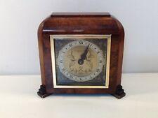 Estilo Art Deco Burr Nogal Entubado Elliott Mantel Clock