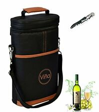 Vina® Wine Travel Carrier & Cooler Bag 2-bottle Wine Champagne Carrying To