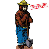 SMOKEY THE BEAR Forest Service Mascot Smoky CARDBOARD CUTOUT Standee Standup