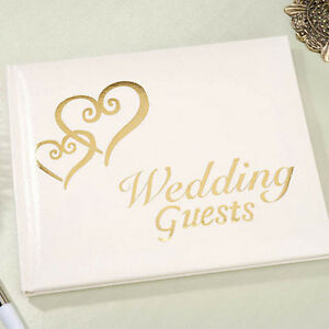 INTERLOCKING HEARTS WEDDING GUESTBOOK GUEST BOOK REGISTRY BY VICTORIA LYNN