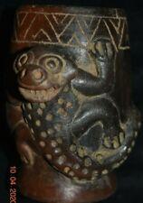 "Sale! Pre Columbian Nicoya Crypt Bowl Figure, 5"" Prov"