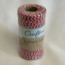 Bakers Twine Red White 500 Feet 152.4m New Sealed Crafters Square