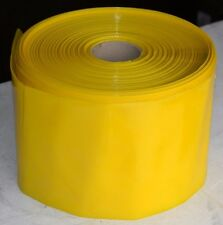 More details for yellow tinted layflat polythene tubing 1000 gauge 207mm / 8