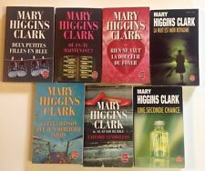 9 LIVRES Mary Higgins Clark Seconde chance Affaire Cendrillon Roman policier