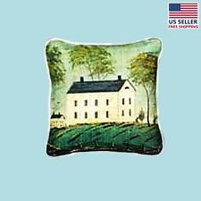 "Cotton Pillow Light House on the Hill 18"" Square 