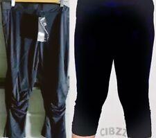 Women's Petite Size 8/10 Capri Pants 3/4 Legging Gym Yoga Gathered Knees Comfy