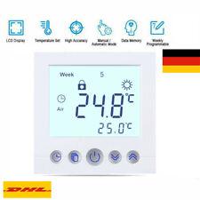 digital Thermostat LCD Raumthermostat Fußbodenheizung Wandheizung Thermostate EU