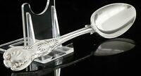 Double Struck Antique Silver Dessert Spoon, John & Henry Lias, London 1848