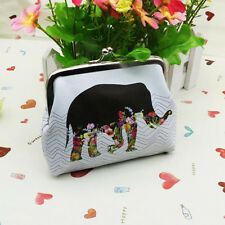 Womens Elephant Wallet Card Holder Coin Purse Clutch Handbag White