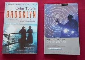 Brooklyn By Colm Toibin & Life of Galileo for English VCE   - 2 Novels /Books