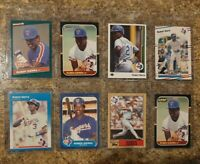 (8) Ruben Sierra 1986 1987 Fleer Donruss Topps Leaf Rookie card lot RC Rangers