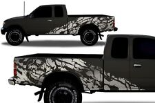Vinyl Decal Wrap Kit fits 1995-2004 Toyota Tacoma Extended Cab Nightmare SILVER