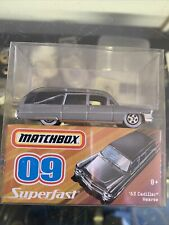 MATCHBOX 1963 63 CADILLAC HEARSE BLACK AND GRAY SUPERFAST 09