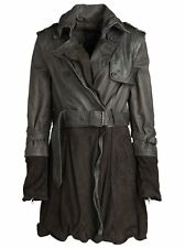 Rare Muubaa $850 4 in 1 Convertible Brown Suede Leather Belted Trench Coat 6