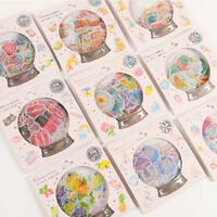 48pc Crystal Ball Cat Candy Stickers Paper Craft DIY Scrapbooking Sticker Decor