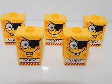 Lego Lot of 5  SpongeBob SquarePants with Eyepatch Pattern