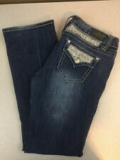 ZCO Boot Cut Jeans w/ Lace Flap Pockets - Medium Wash - Size 13 (32 x 32)