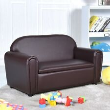 Kids Toddler Sofa Armrest Chair Couch w/Storage Function Child Bedroom Furniture