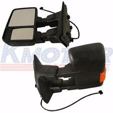 New Side Mirror Power Heated Orange Signal Towing Pair For Ford Super Duty 08-15