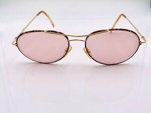 Vintage Carrera 5521 Tortoise Gold Metal Aviator Sunglasses Austria FRAMES ONLY