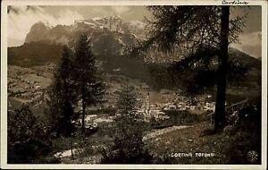 Cortina Venetien Italien s/w Postkarte 1926 frankiert Blick auf den Tofana Berg