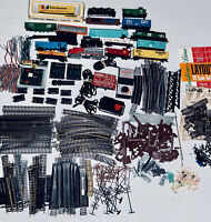 Vintage Railroad Track, trains,Switches and Accessories HUGE mixed  LOT of 300
