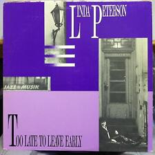 LINDA PETERSON jazz musik too late to leave early LP Mint- Private Jazz